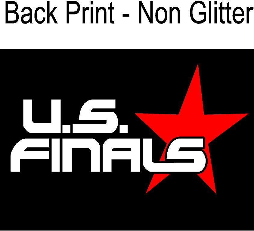 back print non glitter
